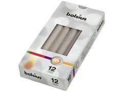 Gotische Kaarsen 252/24 12St. Warm Grijs