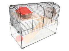 Hamsterkooi Vitru Zwart 1 51,5X29X40Cm