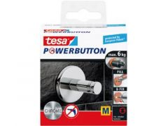 Tesa Powerbutton - Universal Haak Chroom Medium