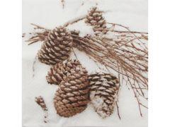 Servetten 33X33Cm 20St. Cones In Snow