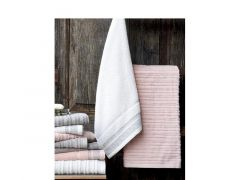 Duplex Handdoek 50X100 Linen Col 2 Roze
