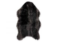 Tapijt Fox Fur - 50X80Cm, Black
