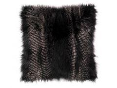 Kussen (Gevuld) Fox Fur - 45X45Cm, Black