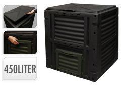 Kompostbak 450 Liter Zwart-Groen 80X12X80Cm