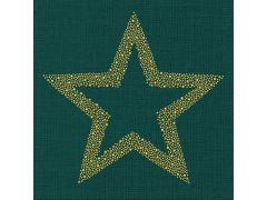 Braun Briljant Star Smaragd 33X33Cm