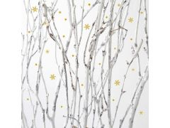 Braun Frosted Forest 33X33Cm