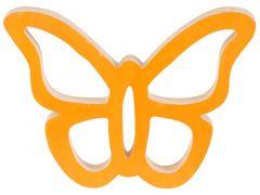 Vlinder Hanger Oranje 14X11Xh2Cm Hout