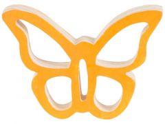 Vlinder Hanger Oranje 10X7Xh2Cm Hout