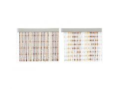 Gordijn Plastic 1.5X90X200Cm Bruin/Kleur 2 Assortiment Prijs Per Stuk