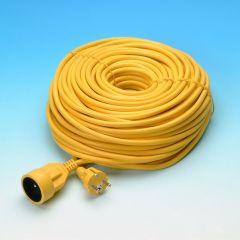 Verlengsnoer 50m geel 3G1.5mm²