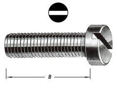 Metaalbouten Cil.Kop Met Moer M 4 X 25