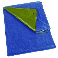 Dekzeil blauw/kaki - regular - 2 x 4m