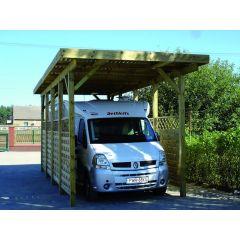 Carport voor mobilhome