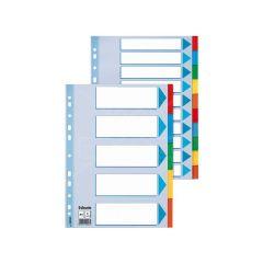 Index Karton Tabbl A4 5Tabs Ass