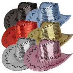 V Hoed Cowboy Sequin Ass