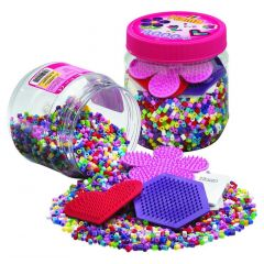 Hama 4000 Beads En Boards In Tub 4000 Pink Mix