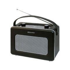 Roadstar Vintage Radio Black Leather Mw-Fm