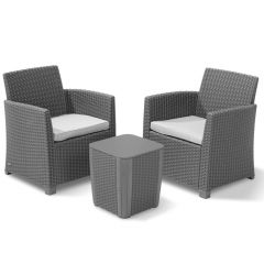 Allibert Corona Balcony Set Met Luzon Tafel Graphite