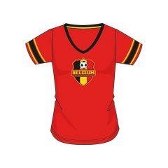 Belgium T-Shirt Rood Ladies Small