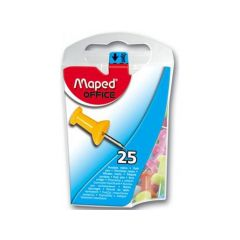 Maped Push Pins Gekleurd 25 Stuks