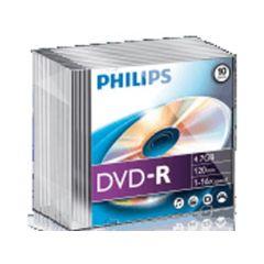 Philips Dvd-R 4.7Gb 16X Slim Jc 10St