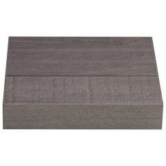 StoreMax Shelving Zwevend paneel 45mm, 25x25cm, grijs eiken