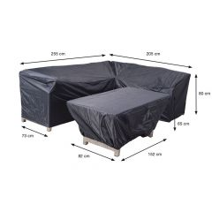 Coverit Lounge/Dining Hoes 255/205X73Xh80Cm & 152X82Xh65Cm