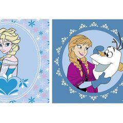 Kinderzakdoeken Frozen - Vrac/6 - 28X28Cm