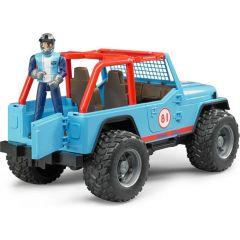 Bruder 02541 Jeep Cross Country racer met bestuurder - Blauw
