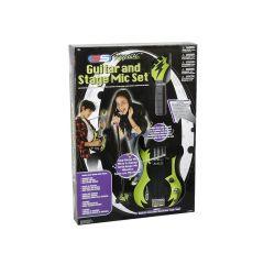 Gitaar Met Microfoon Op Voet