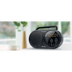 Muse M 088 R Portable Radio + Clock Pll Aux In