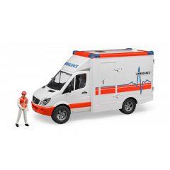 Bruder 02536 Mercedes Sprinter ambulance met chauffeur