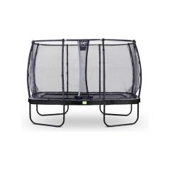 Exit Elegant Trampoline Rect. 214X366Cm + Safetynet Deluxe Black