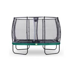 Exit Elegant Trampoline Rect. 244X427Cm + Safetynet Deluxe Green