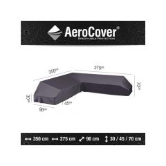 Aerocover Lounge Platform Hoes 350X275X90Xh30/45/70Cm Rechts