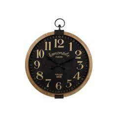 Hamilton Clock Homemade Black Wood/Metal Frame