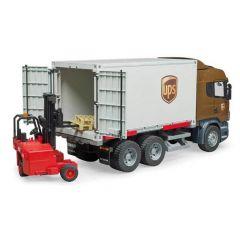 Bruder 03581 Scania R UPS laadwagen met heftruck