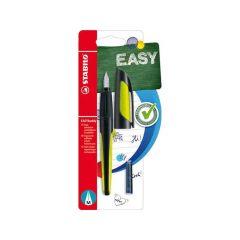 Stabilo Easy Buddy Blister 1 Vulpen Black/Lime + 2 Cartridges