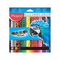 Colorpeps Animals Kleurpotloden Ophangdoos 24St