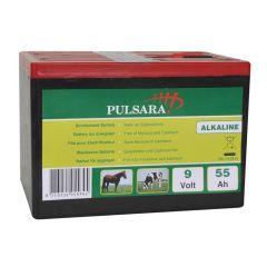 Pulsara Alkaline Batterij High Perf. 9V 55Ah Compact