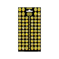Twinkle Sticker Sheets 10.2X20Cm Twinkle Sheet Crazy Yellow Faces