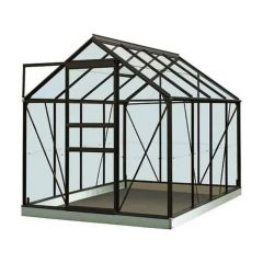 Serre Intro Grow - Ivy - 5,0M² Zwart Ral9005 Poly 4Mm - 1,93M X 2,57M X H1,21M/1,95M