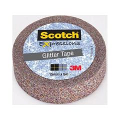 Scotch Expressions Tape Refill Glitter Multicolor 15Mm X 5 Mm