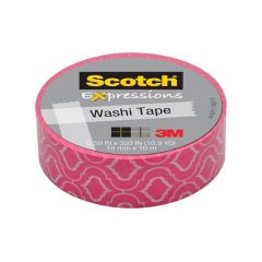 Scotch Expressions Tape Refill Roze Met Motief 15Mmx10Mm