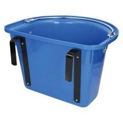 Wedstrijd Voerbak Blauw Met Ophangbeugel + Draaggreep