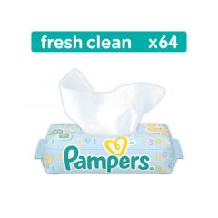 PAMPERS WIPES FRESH CLEAN 6X64ST