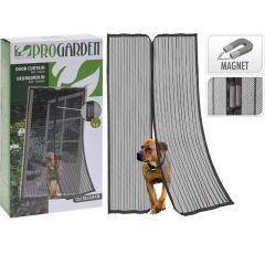 Insectendeur 2 Delig Met Handvat 220X50Cm Zwart