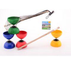 Outdoor Fun Diablo With Wooden Sticks 4 Assortiment Prijs Per Stuk