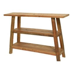 Mixed Java Wood Side Table Natural 30X120X80Cm