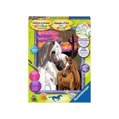 S Classic Paarden In De Zonsondergang